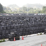 Fukushima Contaminated Soil Bags Washed Away In Floods