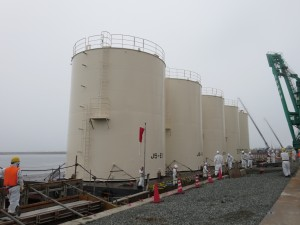 Welded Water Tanks Installed At Fukushima Daiichi