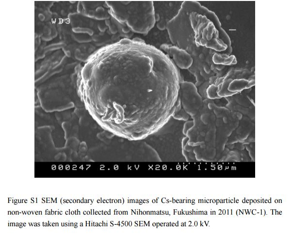 fukushima fuel ejected glass nihonmatsu 2011 - New Meltdown Byproduct Found Far From Fukushima Daichi