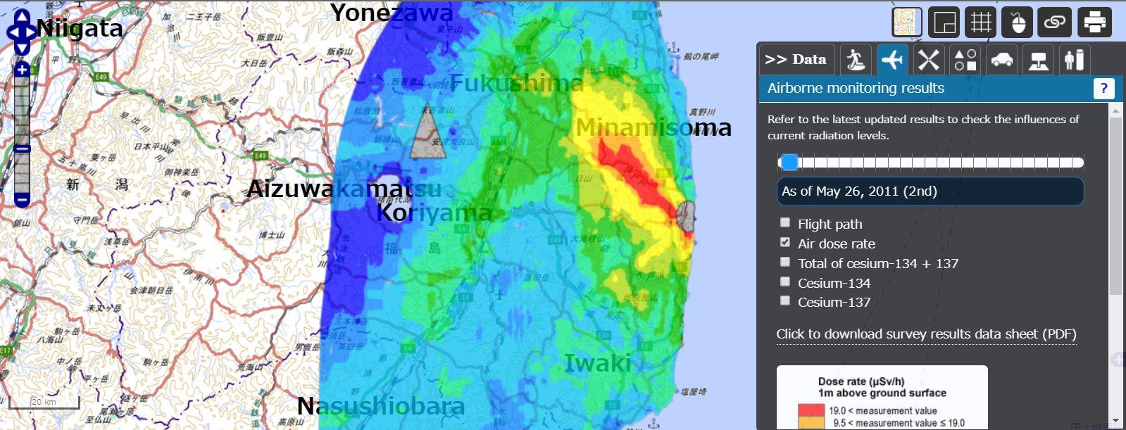 Fukushima Radiation Maps – SimplyInfo.org