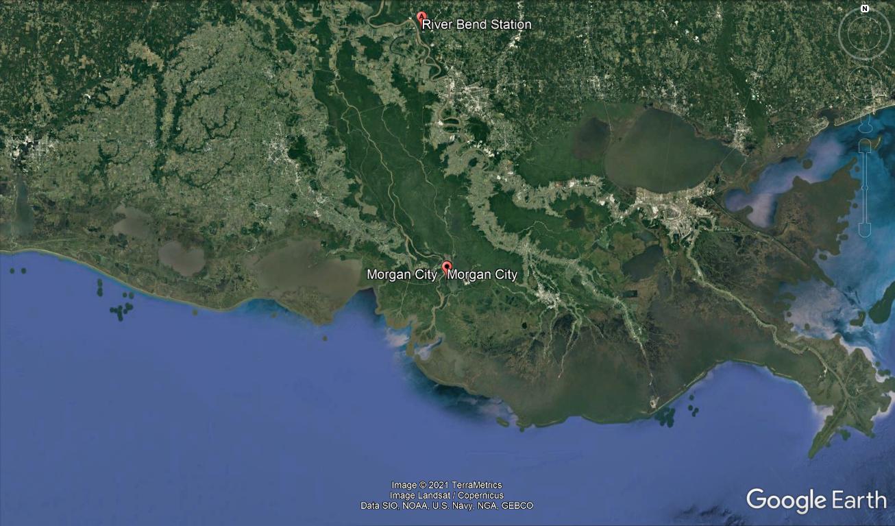 river bend nuclear plant hurricane ida