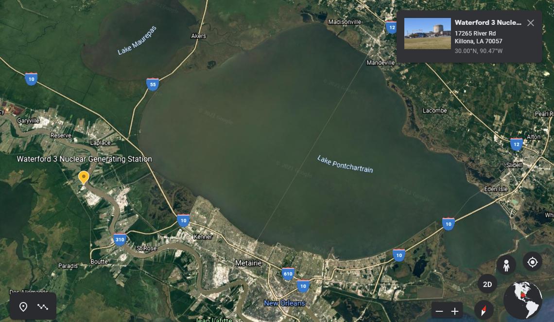 hurricane ida waterford nuclear power plant