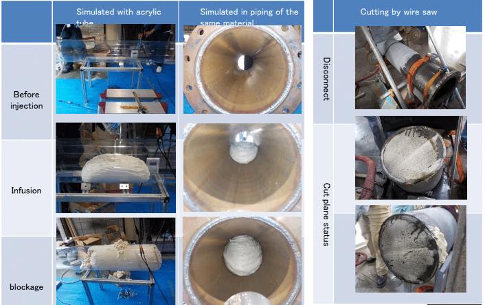 fukushima unit 1 2 vent pipe foam filler